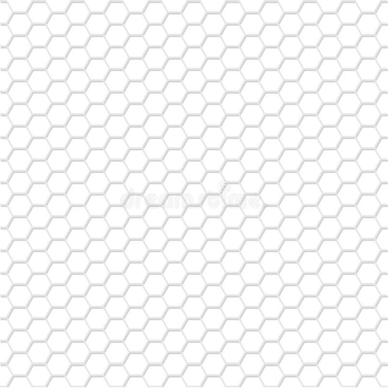 Biały sześciokąta wzór royalty ilustracja