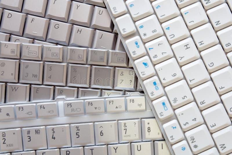 biały tło klawiatury zdjęcia stock