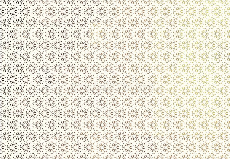 Biały tło z brudno- stylizowanym kwiecistym ornamentem royalty ilustracja