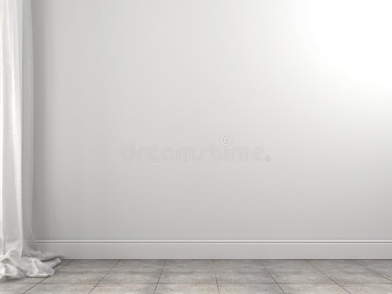 Biały tło zasłony i ściana zdjęcie stock