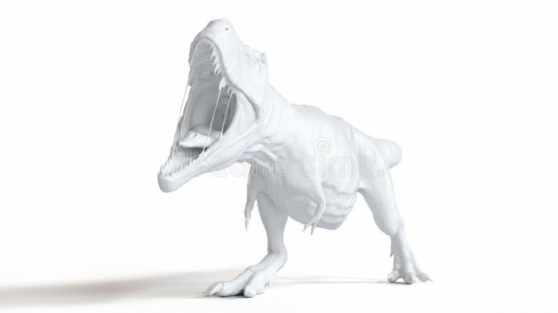 Biały t-rex royalty ilustracja