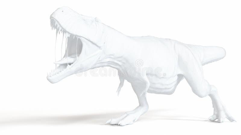 Biały t-rex ilustracji