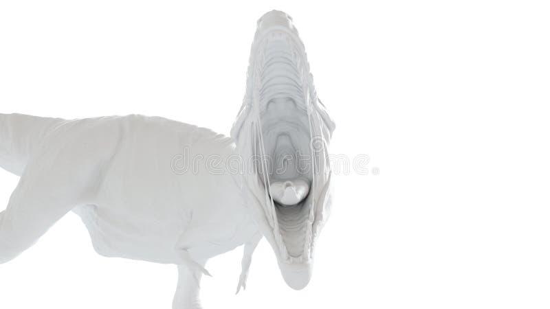 Biały t-rex ilustracja wektor