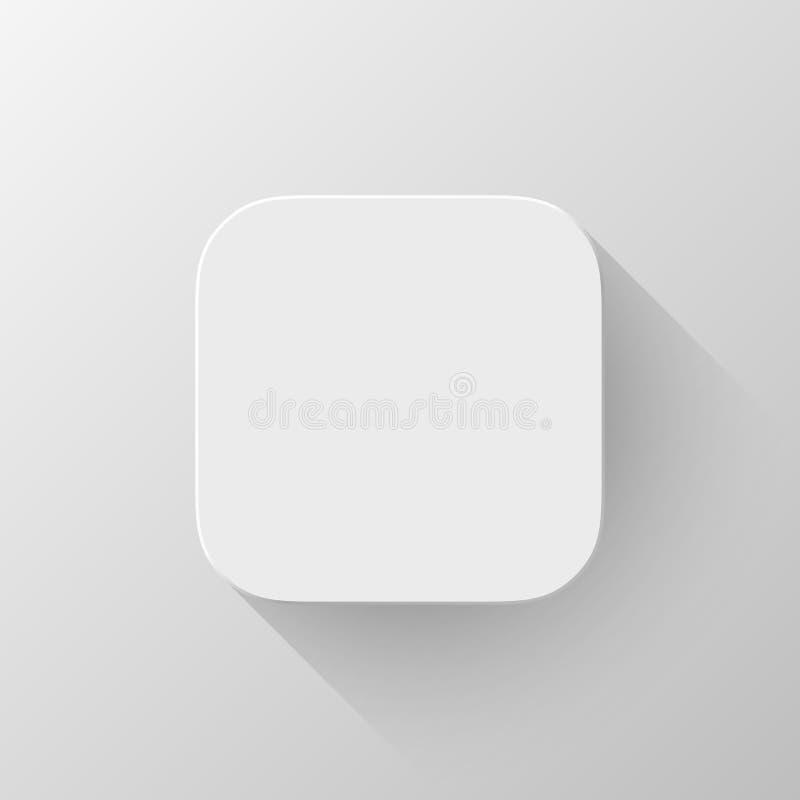 Biały technologii App ikony pustego miejsca szablon ilustracja wektor