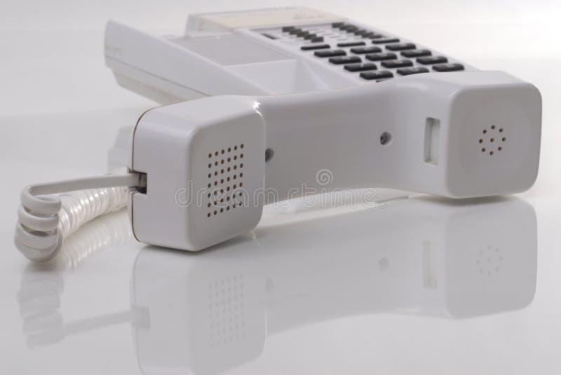 biały telefon zdjęcie stock