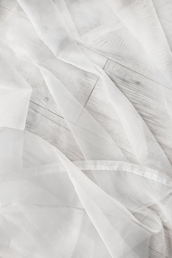 Biały tiul na podłoga zdjęcia royalty free