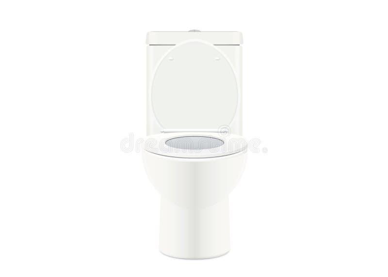 Biały toaletowy puchar royalty ilustracja