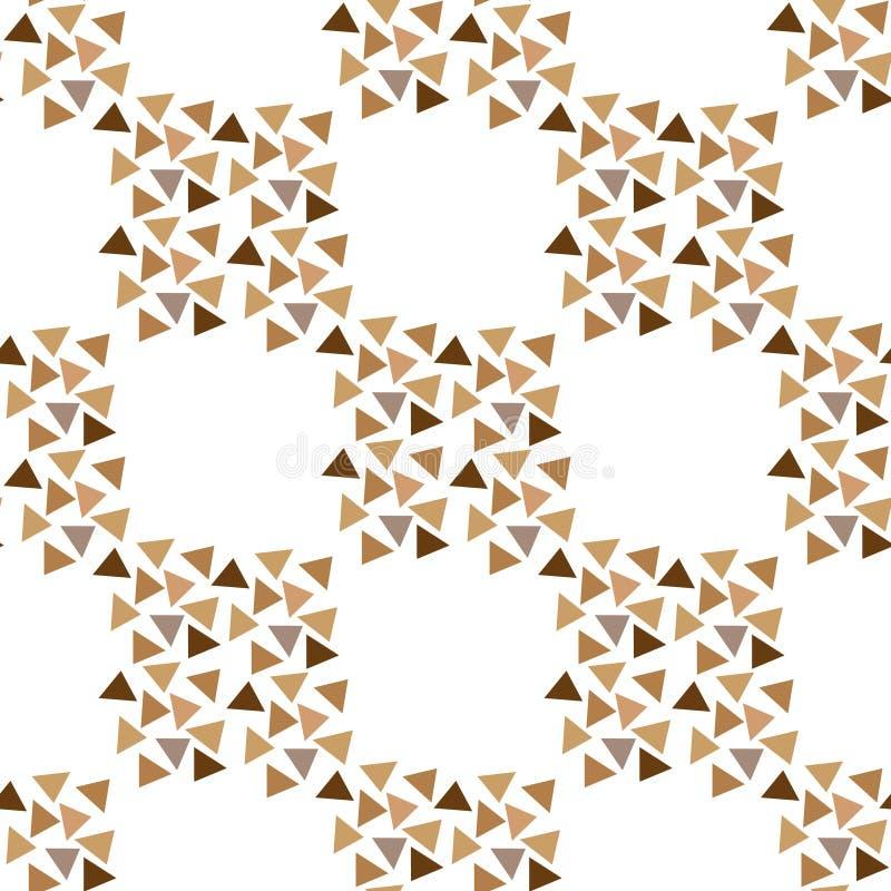 Biały trójkątny mozaikowy matowy deseń bez szwu. Ilustracja wektorowa o niskim poli royalty ilustracja