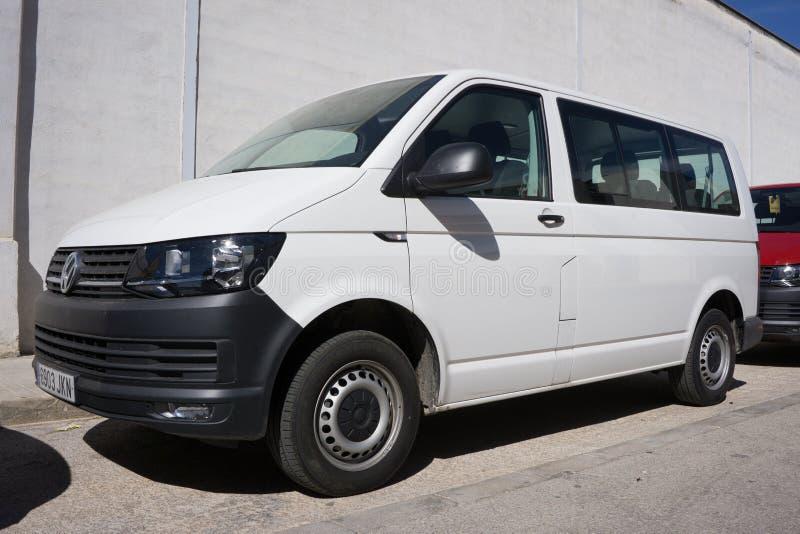 Biały VW Van fotografia stock