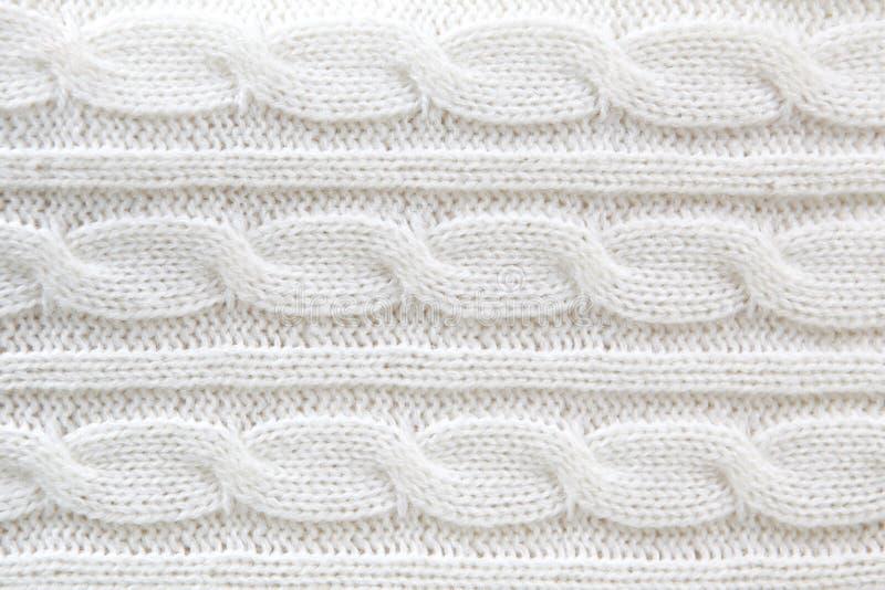 Biały wełna puloweru tło fotografia royalty free
