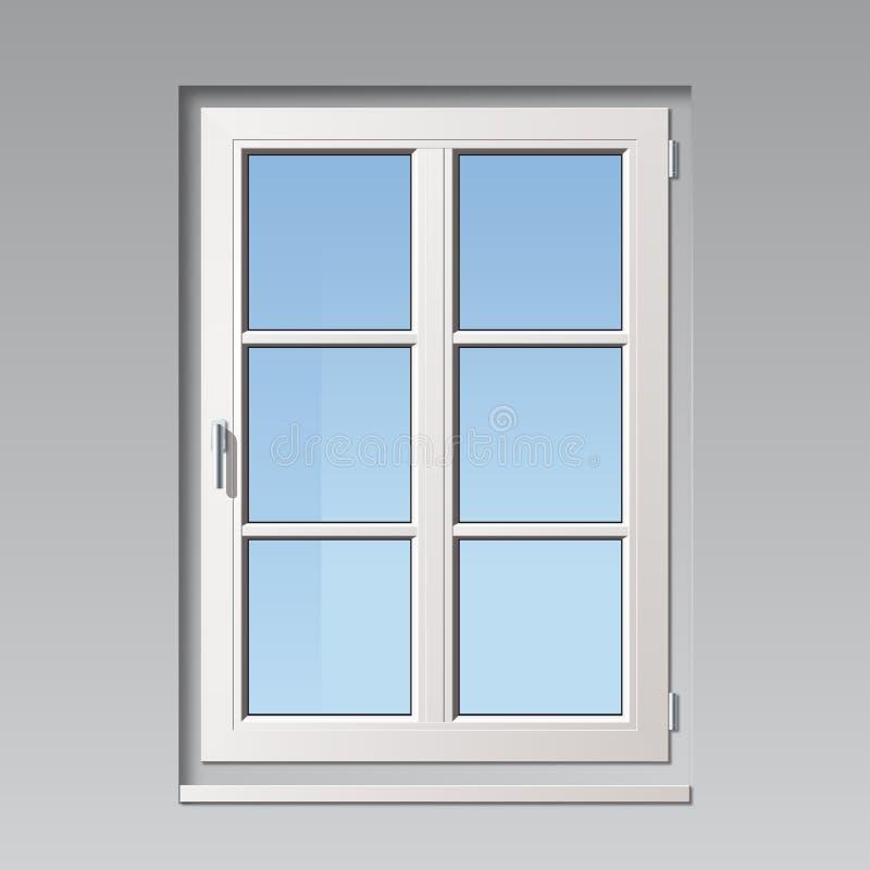 Biały wektorowy okno ilustracja wektor