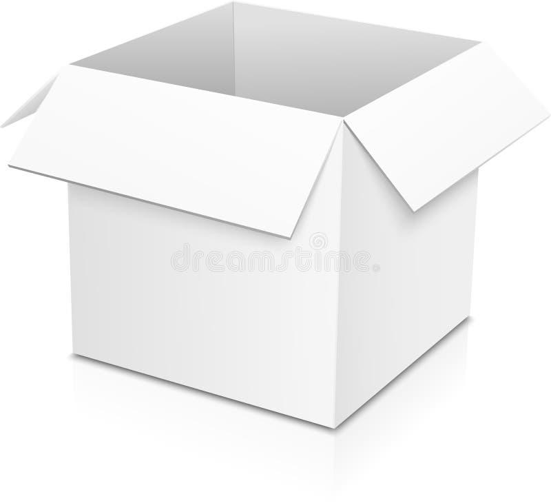 Biały wektorowy papierowy pudełko ilustracja wektor