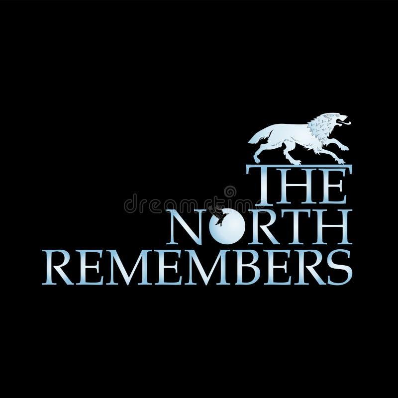 Biały wilk i wpisowa północ PAMIĘTAMY ilustracji