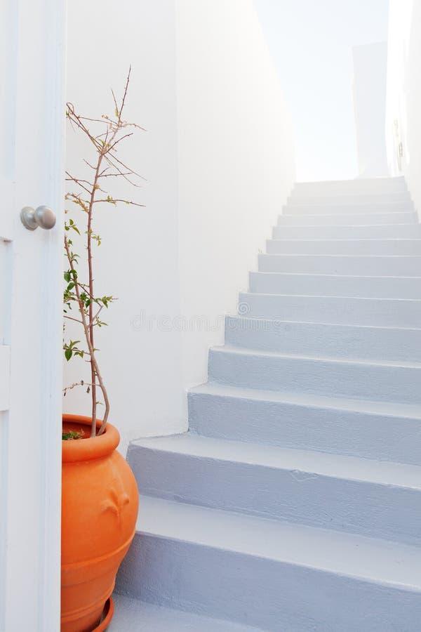 Biały willa dom w Oia, Santorini obrazy stock