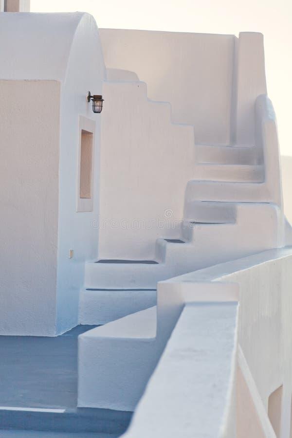 Biały willa dom w Oia, Santorini zdjęcia stock
