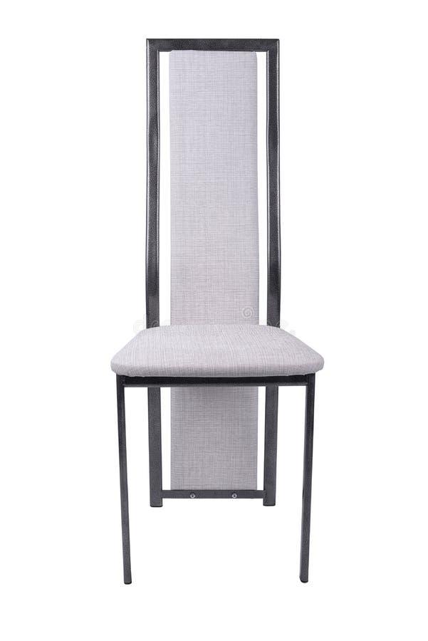 Biały winylowy stolec krzesło na białym tle, praca z ścieżką zdjęcia stock