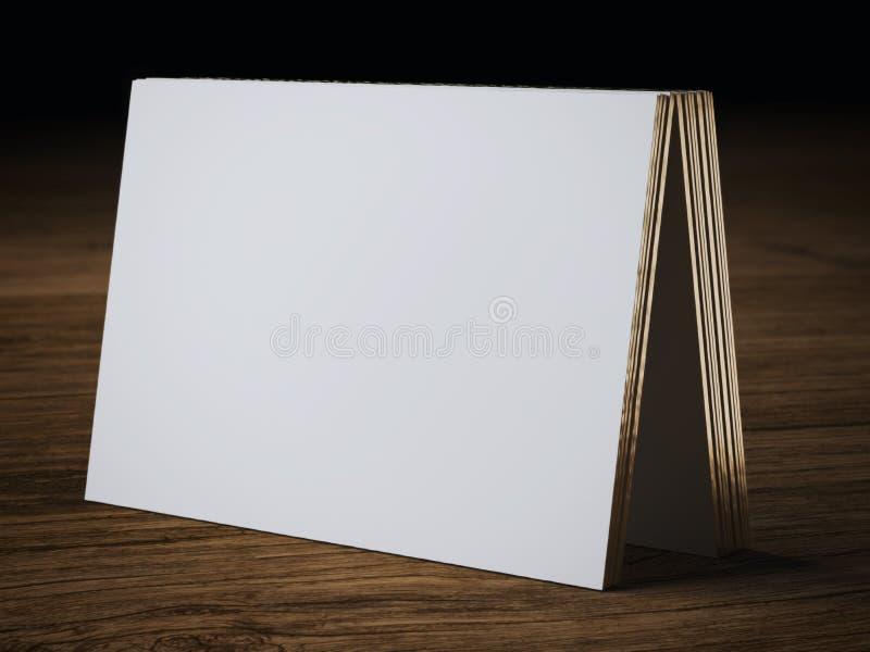 Biały wizytówki mockup obrazy stock