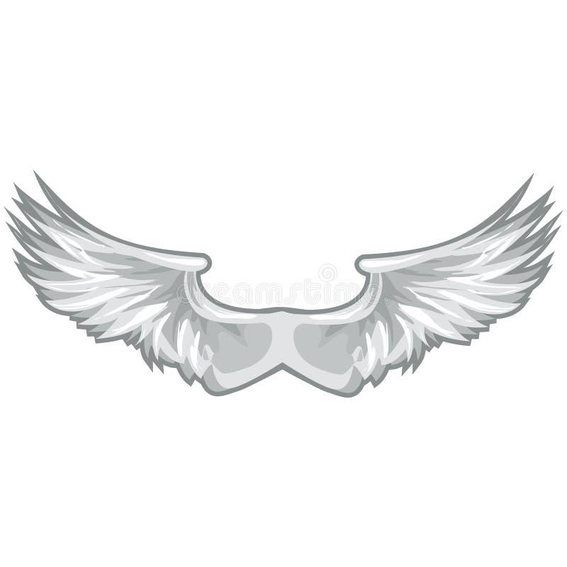 biały wycinek ścieżki skrzydła ilustracji