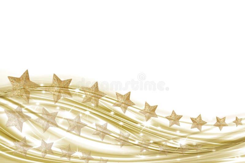 biały złociste tło gwiazdy ilustracja wektor