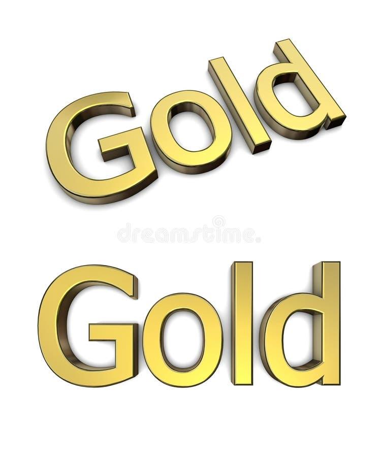 biały złota słowo ilustracji