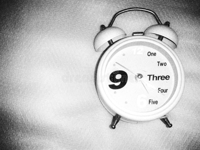 Biały zegar fotografia stock