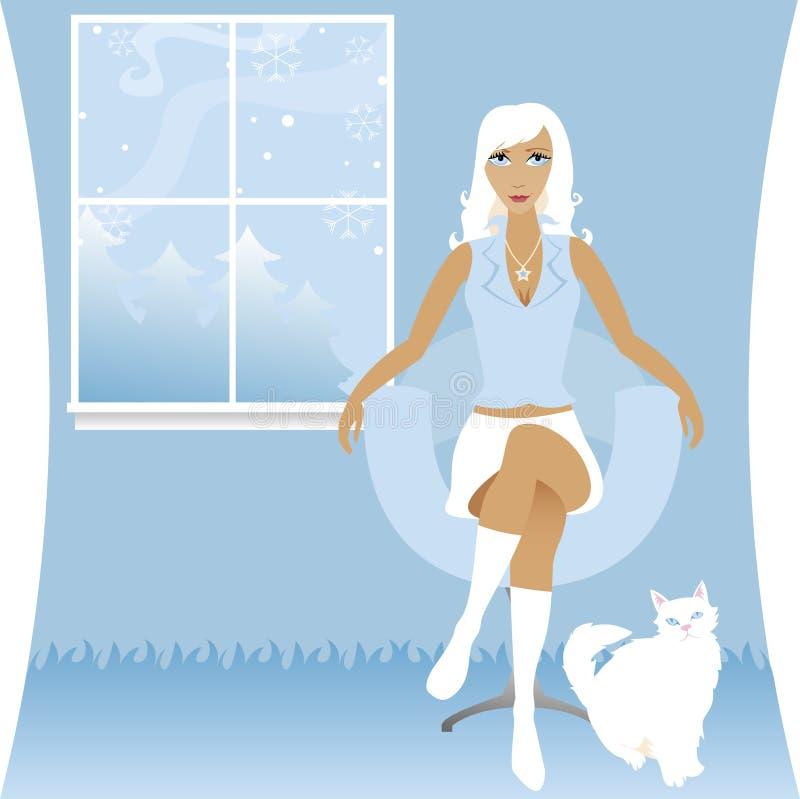 biały zimowy royalty ilustracja