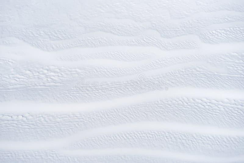 Biały zimy tło z śnieżną teksturą zdjęcia stock