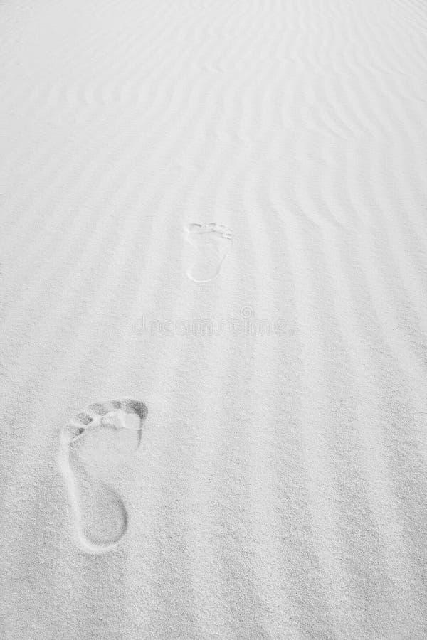 Białych piasków stopy Nowi Tajemniczy kroki - Mexico - obraz stock
