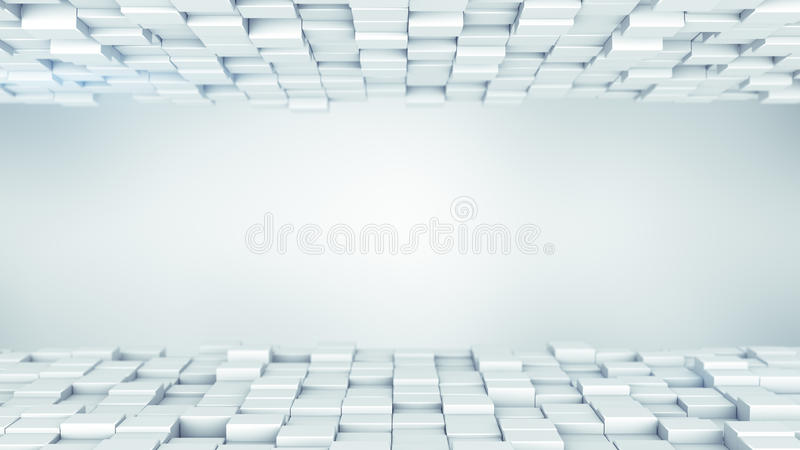 Białych pudełek abstrakcjonistyczny tło 3D odpłaca się royalty ilustracja