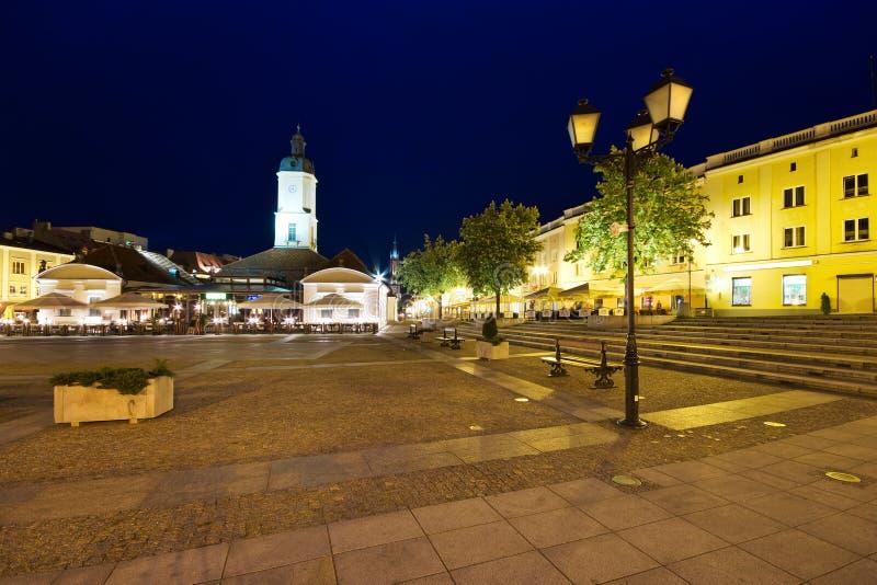 bia方形城镇ystok 库存照片
