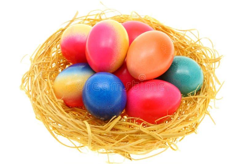 Download Biały Easter jajka zdjęcie stock. Obraz złożonej z gotowany - 13329596