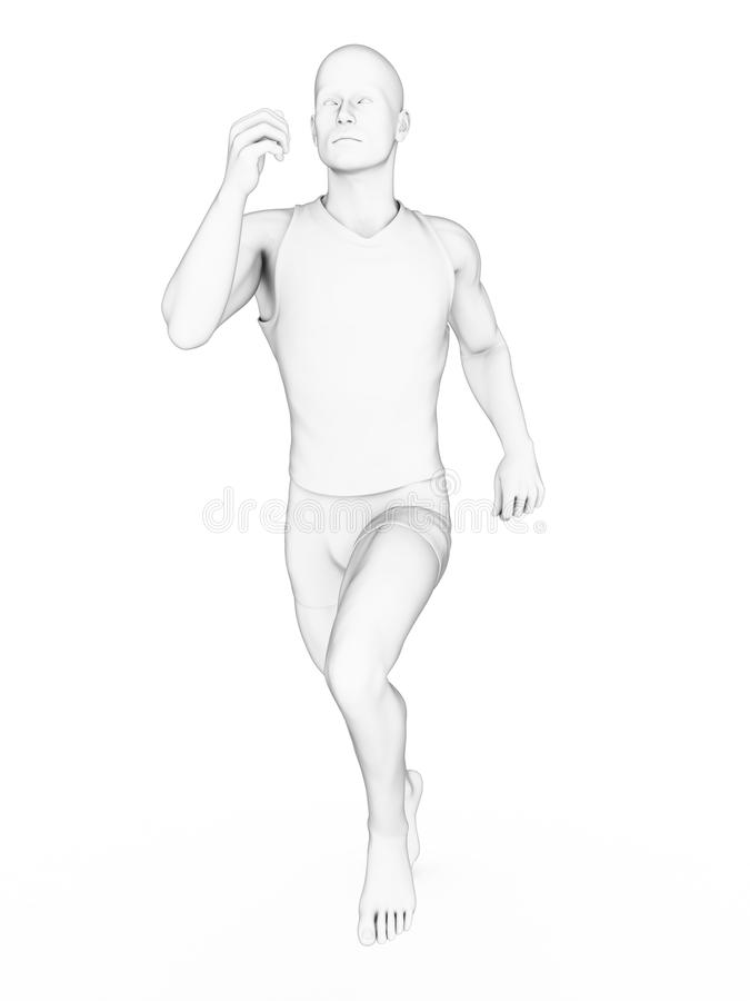 Download Biały jogger ilustracji. Ilustracja złożonej z sport - 28962568