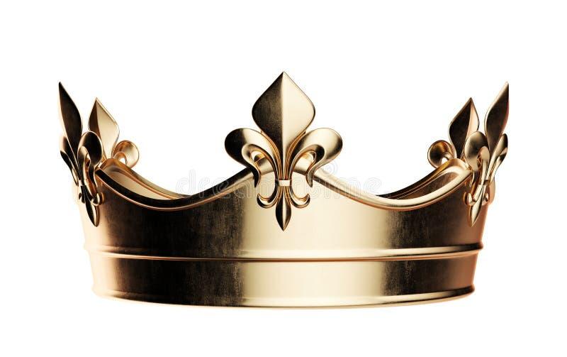 bia?y koron TARGET2036_1_ ?cie?ki z?ote odosobnione royalty ilustracja