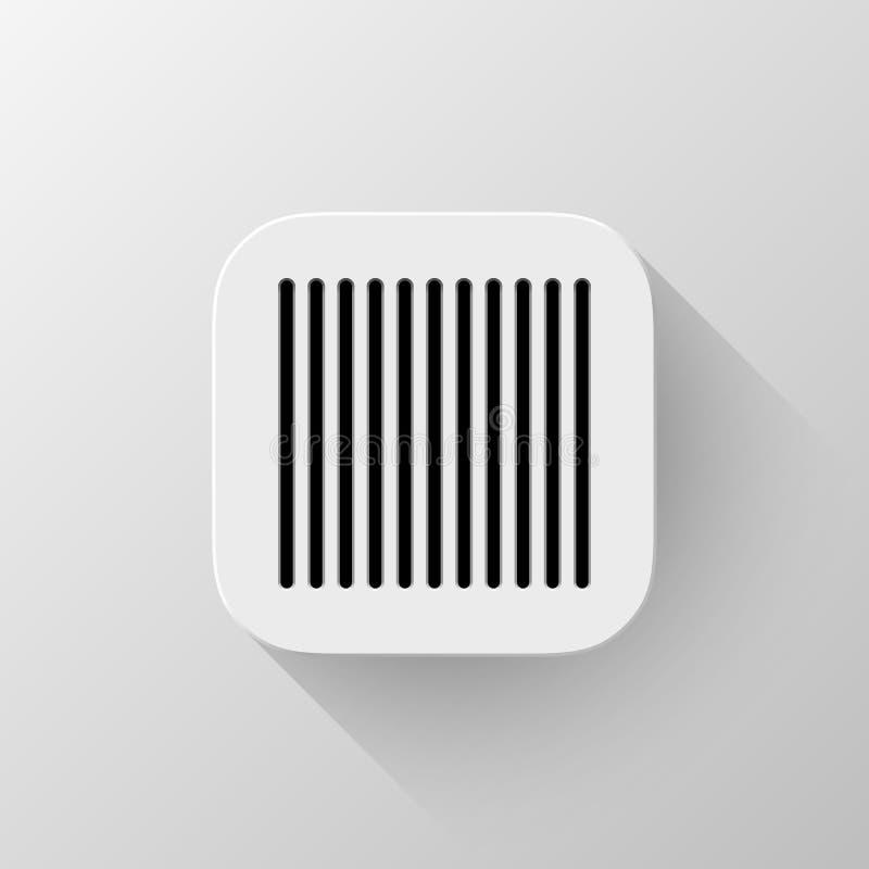 Bia?y technologii App ikony szablon ilustracja wektor