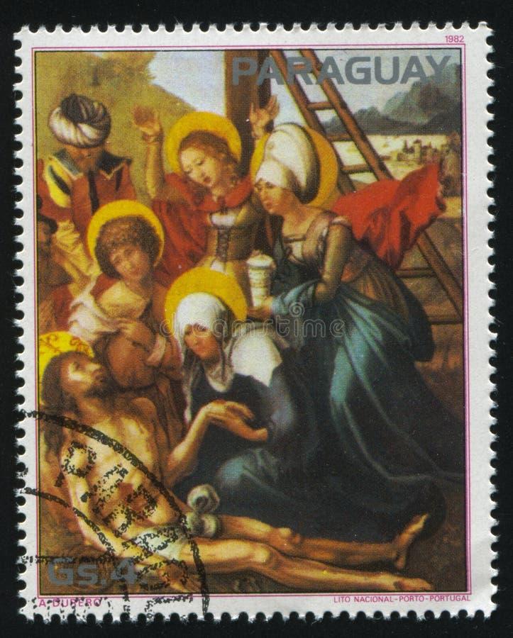 Biadolenie nad Nieżywym Chrystus Albrecht Durer zdjęcia royalty free