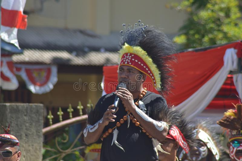 PAPUAN CARNIVAL INDONESIA INDEPENDANCE DAY stock photos