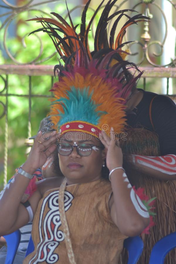 PAPUAN CARNIVAL INDONESIA INDEPENDANCE DAY stock photo