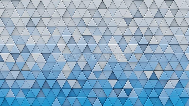 Biali błękitni gradientowi trójboki wyrzucony 3D odpłacają się ilustracji