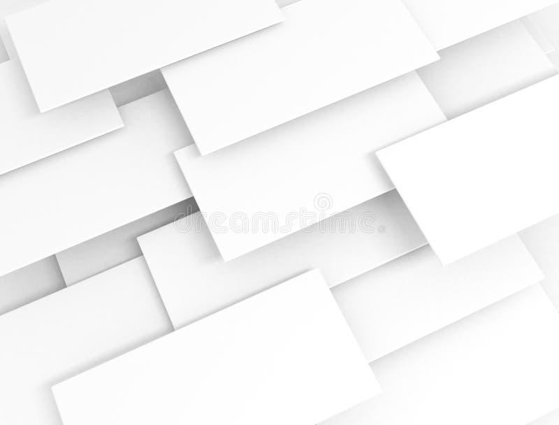 Biali 3d sqaures pokrywający się royalty ilustracja