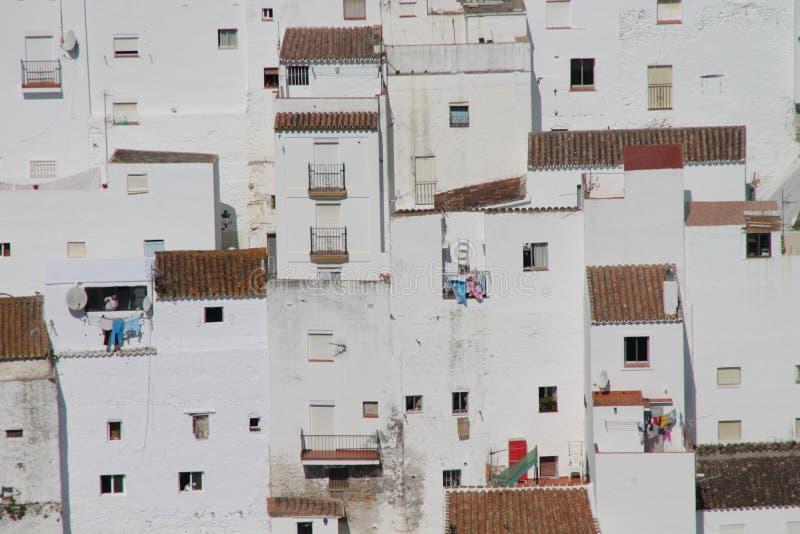 Biali domy Casares zdjęcia stock
