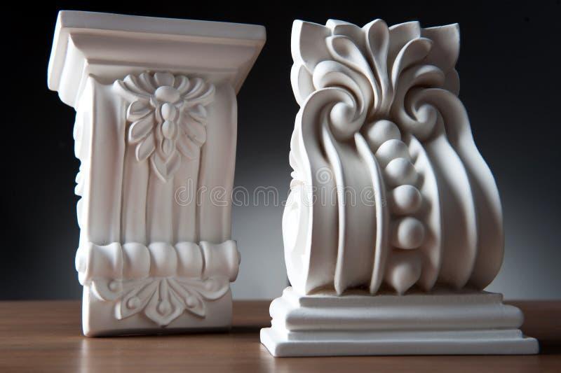 Biali elementy wewnętrzna dekoracja, ścienny projekt zdjęcie royalty free