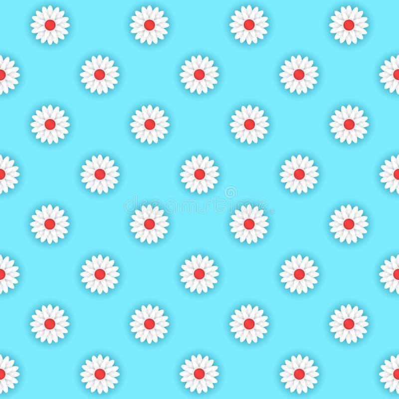 Biali kwiaty na błękitnym tle zdjęcia stock
