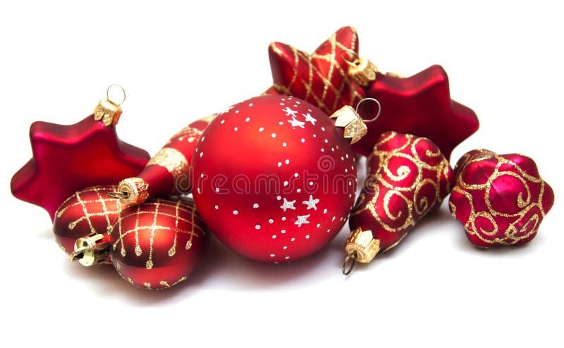 biali ozdoby świąteczne fotografia royalty free