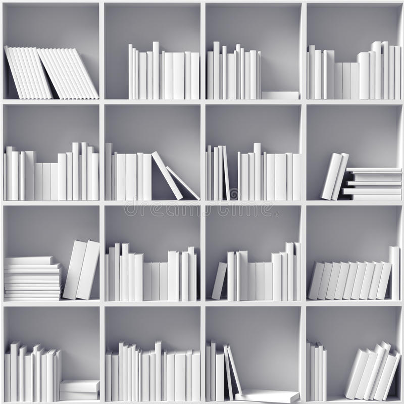 Biali półka na książki royalty ilustracja