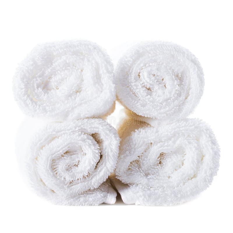Download Biali ręczniki obraz stock. Obraz złożonej z łazienka - 28952675