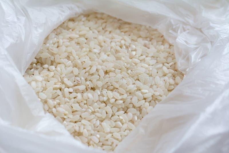 Biali ryż w pakunku zdjęcia royalty free