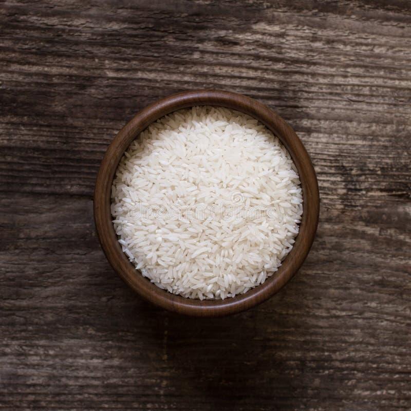 Biali ryż w pucharze fotografia stock