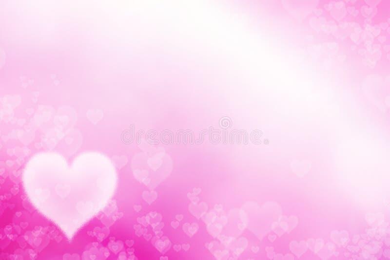 Biali serca i różowy tło obrazy royalty free