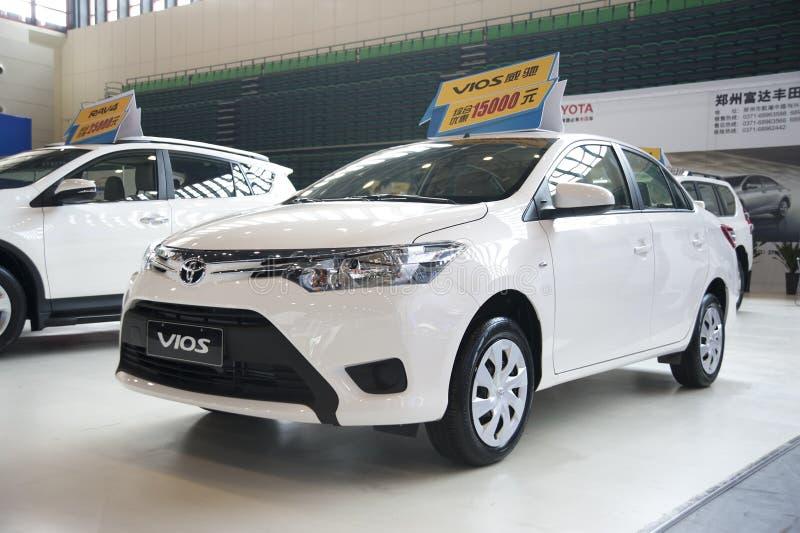 biali Toyota vios samochodowi zdjęcie royalty free