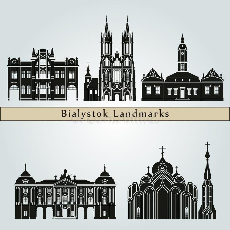 Bialystok gränsmärken royaltyfri illustrationer